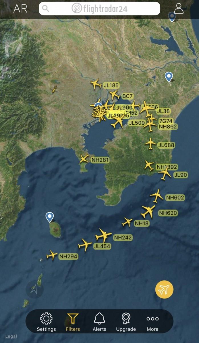 フライト レーダー 24 飛行中の航空機の場所がリアルタイムで分かる「Flightradar24」