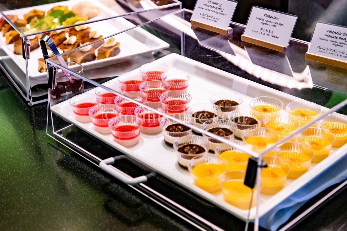 ラウンジで提供されているデザート