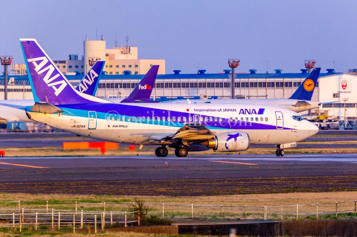 成田空港A滑走路から離陸する飛行機