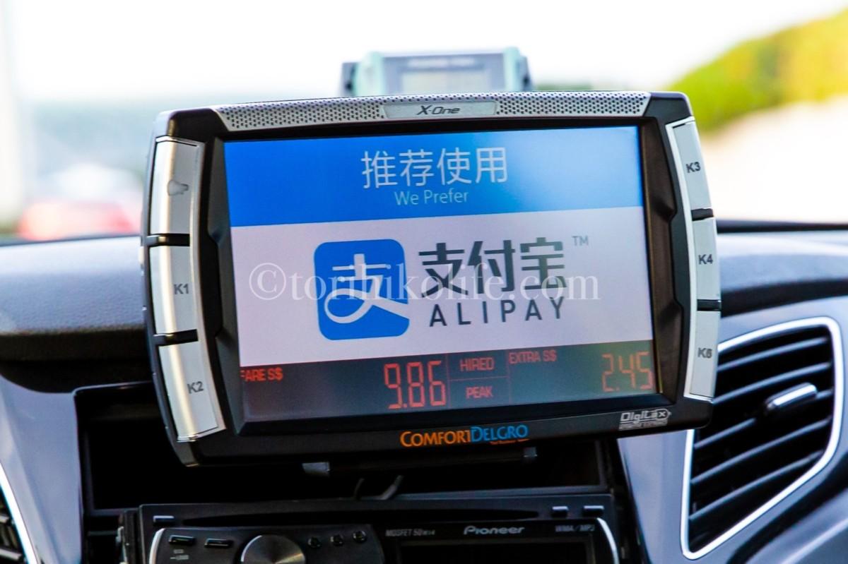 タクシーメーターの料金表示