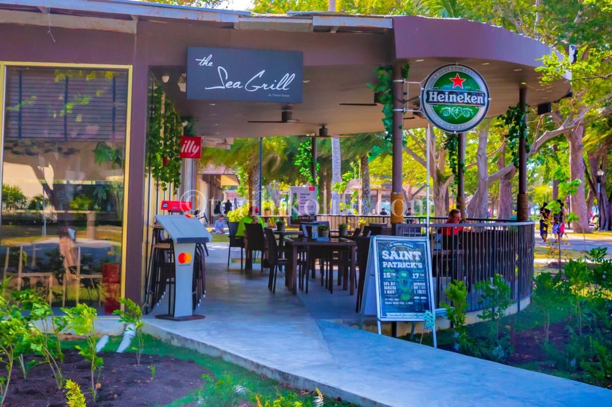 チャンギビーチパーク内のレストランThe Sea Grill