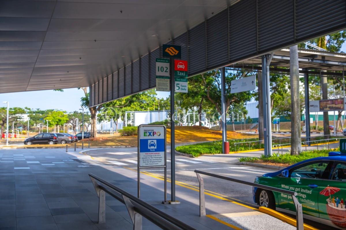 シンガポール市内のタクシースタンド