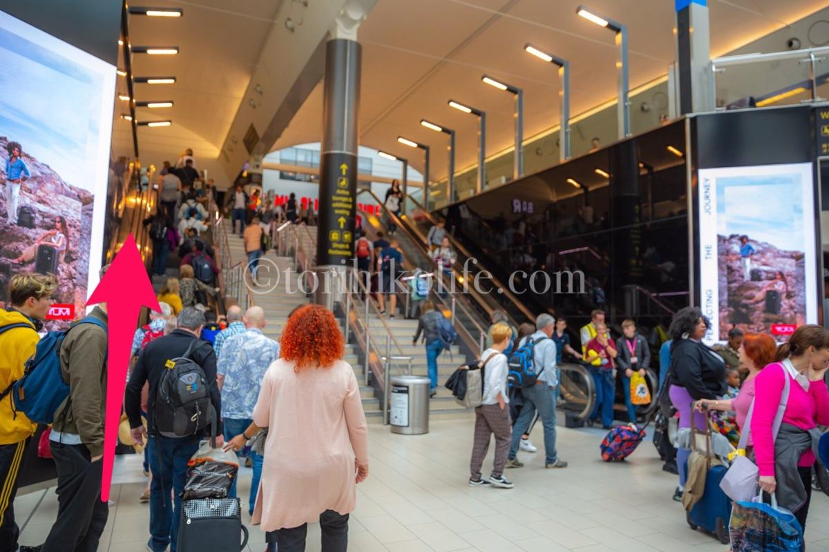 ガトウィック空港サウスターミナル制限エリア