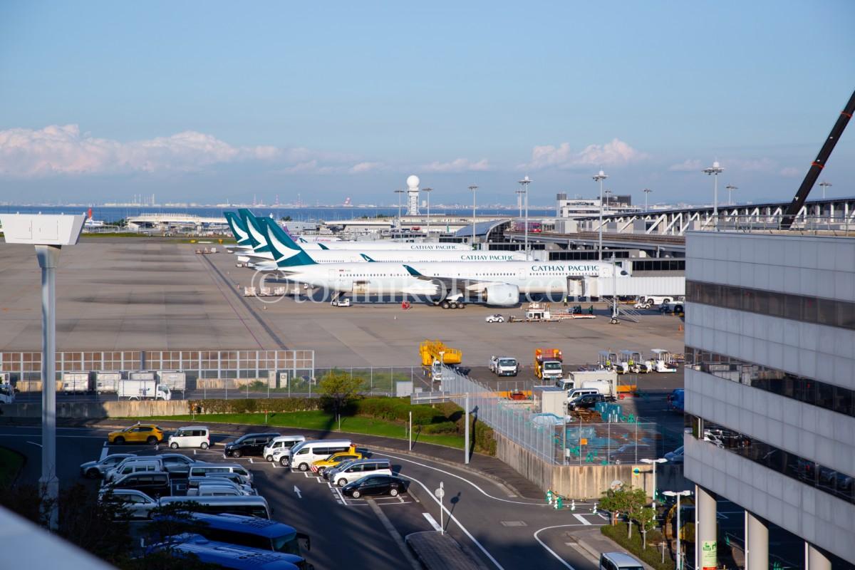 第1ターミナル4階北側の撮影スポットを写した写真