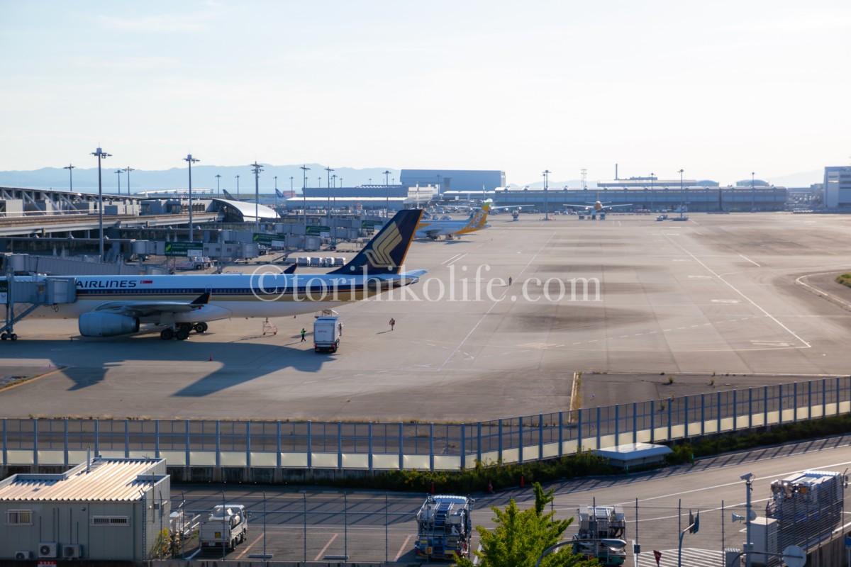 第1ターミナル4階南側にある撮影スポットの様子を撮影した写真