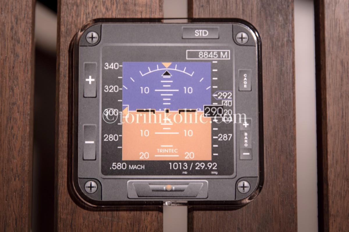 PFD(primary flight display)のコースター